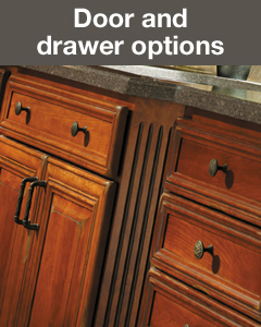 There are several style options for cabinet doors and drawers. Learn more.