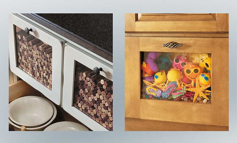 Show off your collection with a decorative drawer front