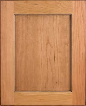 A cabinet door with no furniture pegs.